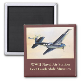 WWII Aircraft 2 Inch Square Magnet