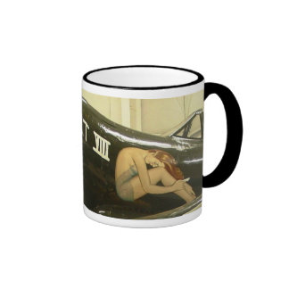 WWII Aircraft Art Ringer Coffee Mug