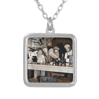 WWII Airmen Armorers Silver Plated Necklace