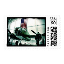 WWII Airplane American Flag Patriotic Stamps