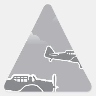 WWII Airplanes Triangle Sticker