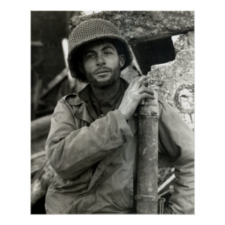 WWII American Soldier in Hurtgen Forest Poster