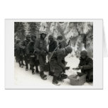 WWII American Soldiers in Belgium Card