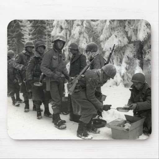 WWII American Soldiers in Belgium Mouse Pad