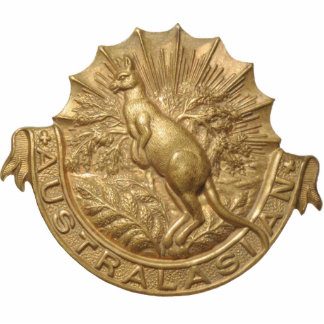 WWII Australian Skippy Hat Badge Sculpture