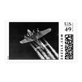WWII B-17 en vuelo Franqueo