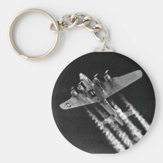 WWII B-17 in Flight Basic Round Button Keychain