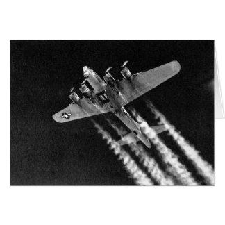 WWII B-17 in flight Card