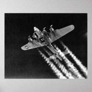WWII B-17 in Flight Poster