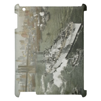 WWII Battleship on the Hudson River NYC Vintage Case For The iPad