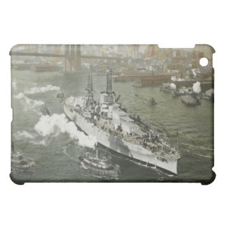 WWII Battleship on the Hudson River Vintage Cover For The iPad Mini