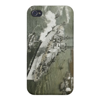 WWII Battleship on the Hudson River Vintage iPhone 4 Case