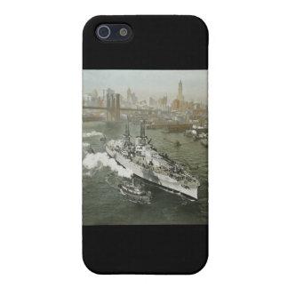 WWII Battleship on the Hudson River Vintage iPhone 5 Case