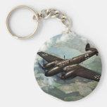 WWII Bf-110 alemán en vuelo Llavero