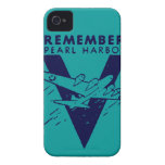 WWII Blue Remember Pearl Harbor Case-Mate iPhone 4 Case
