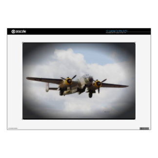 """WWII Bomber Skin Decal For 15"""" Laptop"""