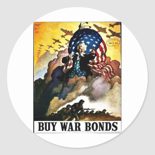 Wwii Bonds1 Classic Round Sticker