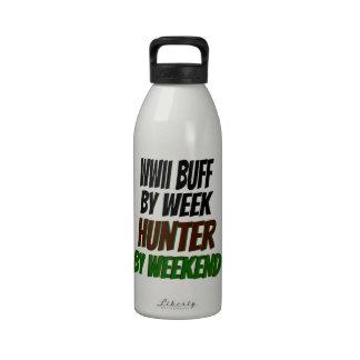 WWII Buff by Week Hunter by Weekend Drinking Bottle