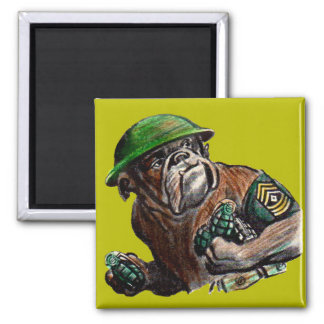 WWII bulldog dog soldier Sgt. Rover Magnet
