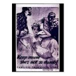 Wwii Careless10 Postcard