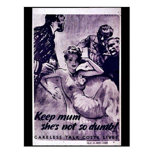 Wwii Careless10 Post Card