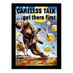 Wwii Careless1 Postcard