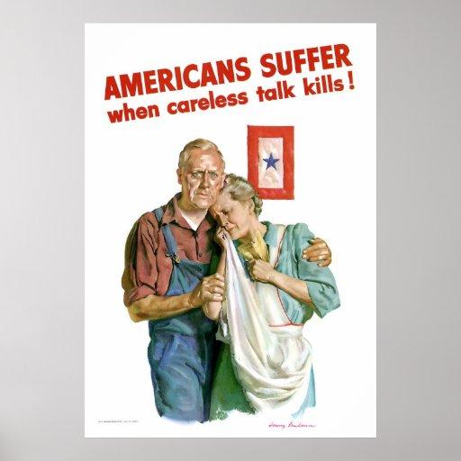 WWII Careless Talk Kills Poster