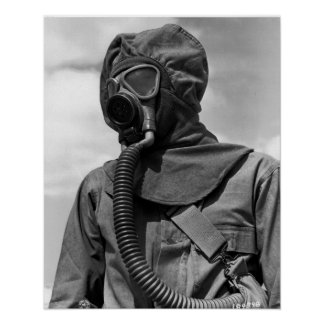 WWII Chemical Suit Poster