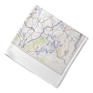 WWII commando/OSS escape silk map Bandana