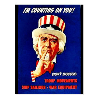 Wwii Counting Postcard