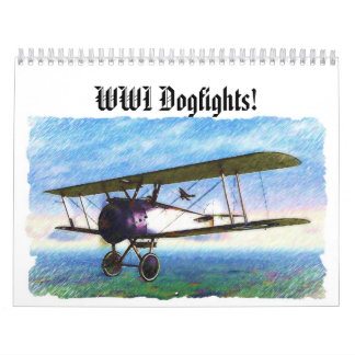 WWII Dogfights over Europe! Wall Calendars