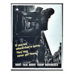 Wwii Dont Talk7 Full Color Flyer