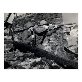 WWII Dutch Snipers Postcard