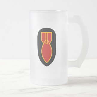 WWII EOD FROSTED GLASS BEER MUG