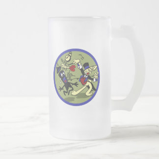 WWII EOD Rabbit Frosted Glass Beer Mug