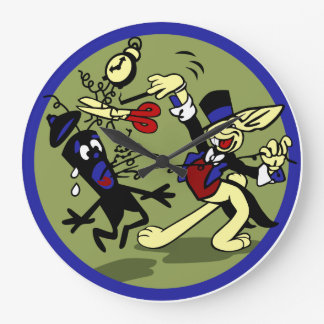 WWII EOD Rabbit Large Clock
