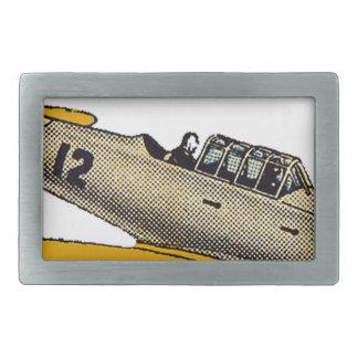 WWII Era Navy Plane Rectangular Belt Buckle