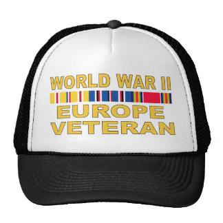 WWII Europe Veteran Trucker Hat