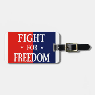 WWII Fight For Freedom Bag Tag