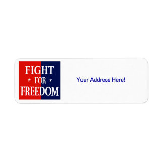 WWII Fight For Freedom Labels