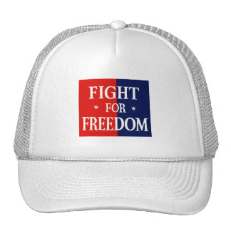 WWII Fight For Freedom Mesh Hats