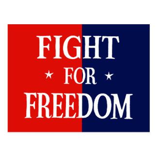 WWII Fight for Freedom Postcard