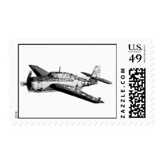 WWII fighter airplane Postage