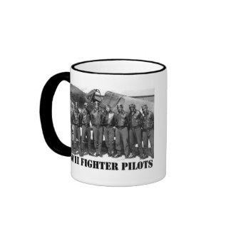 WWII FIGHTER PILOTS RINGER COFFEE MUG