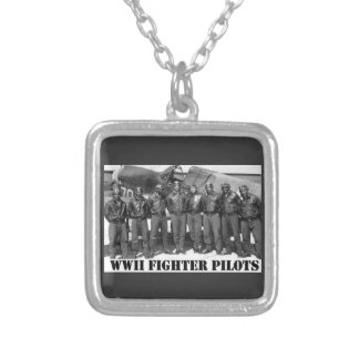 WWII FIGHTER PILOTS SILVER PLATED NECKLACE