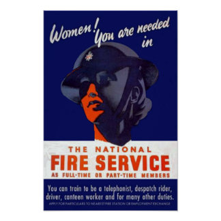 WWII Fire Service Poster
