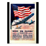 Wwii Flying1 Post Card