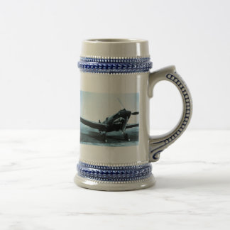 WWII Flying Tigers Curtiss P-40 Fighter Plane Beer Stein