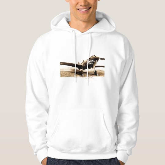 WWII Flying Tigers Curtiss P-40 Fighter Plane Hoodie