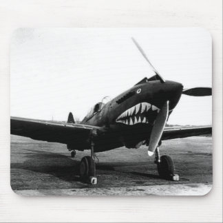 WWII Flying Tigers Curtiss P-40 Fighter Plane Mouse Pad